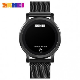 SKMEI Jam Tangan Digital Pria Strap Stainless Steel - 1668 - Black