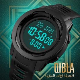 SKMEI Jam Tangan Digital Pria Muslim Qibla - 1729 - Black/Black - 2