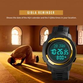 SKMEI Jam Tangan Digital Pria Muslim Qibla - 1729 - Black/Black - 3