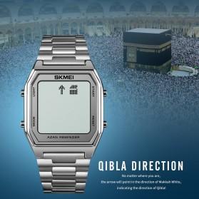 SKMEI Jam Tangan Digital Pria Muslim Qibla - 1763 - Black/Black - 4