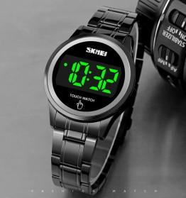 SKMEI Jam Tangan Digital Pria Strap Stainless Steel - 1737 - Black - 4