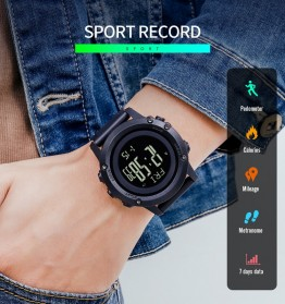 SKMEI Jam Tangan Digital Pria Pedometer Compass - 1793 - Black - 4