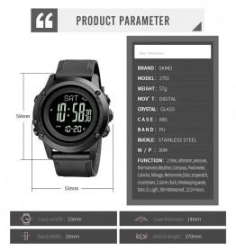SKMEI Jam Tangan Digital Pria Pedometer Compass - 1793 - Black - 6