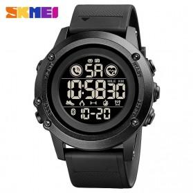 SKMEI Jam Tangan Smartwatch Pria Bluetooth Pedometer Heartrate - 1746 - Black