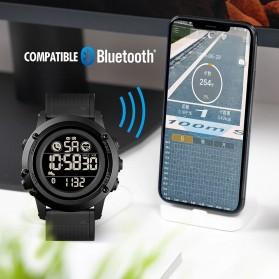 SKMEI Jam Tangan Smartwatch Pria Bluetooth Pedometer Heartrate - 1746 - Black - 4