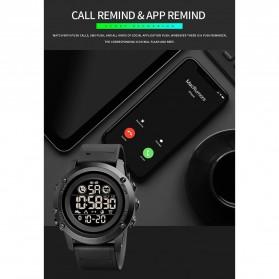 SKMEI Jam Tangan Smartwatch Pria Bluetooth Pedometer Heartrate - 1746 - Black - 7