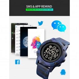 SKMEI Jam Tangan Smartwatch Pria Bluetooth Pedometer Heartrate - 1746 - Black - 8