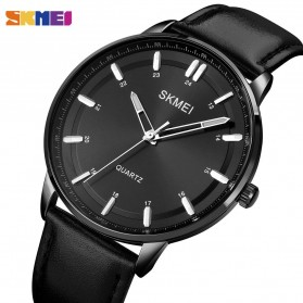SKMEI Jam Tangan Pria Movement Leather Wristwatch - 1662 - Black