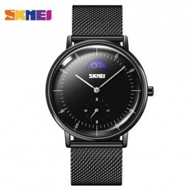 SKMEI Jam Tangan Analog Pria Strap Stainless Steel - 9245 - Black/Black