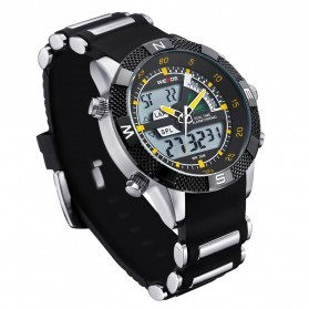 Weide Japan Quartz Silicone Strap Men LED Sports Watch 30M Water Resistance - WH1104 - Yellow - 2