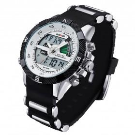 Weide Japan Quartz Silicone Strap Men LED Sports Watch 30M Water Resistance - WH1104 - White - 2