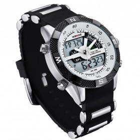 Weide Japan Quartz Silicone Strap Men LED Sports Watch 30M Water Resistance - WH1104 - White - 3