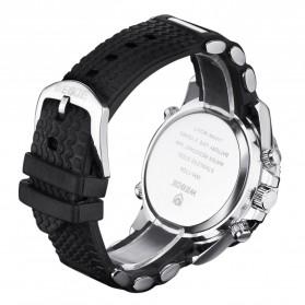 Weide Japan Quartz Silicone Strap Men LED Sports Watch 30M Water Resistance - WH1104 - White - 6