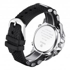 Weide Japan Quartz Silicone Strap Men LED Sports Watch 30M Water Resistance - WH1104 - Golden - 6