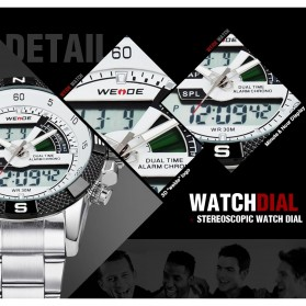 Weide Japan Quartz Silicone Strap Men LED Sports Watch 30M Water Resistance - WH1104 - Golden - 10