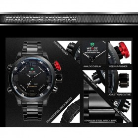 Weide Japan Quartz Miyota Men LED Sports Watch 30M - WH2309 - Black with White Side - 8