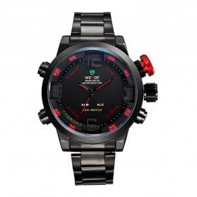 Weide Japan Quartz Miyota Men LED Sports Watch 30M - WH2309 - Black/Red - 4
