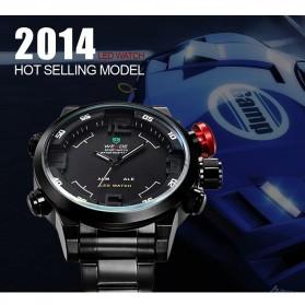 Weide Japan Quartz Miyota Men LED Sports Watch 30M - WH2309 - Black/Red - 9