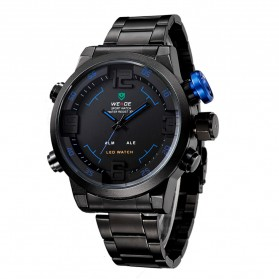 Weide Japan Quartz Miyota Men LED Sports Watch 30M - WH2309 - Black/Blue