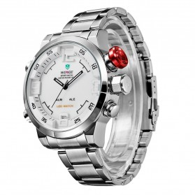 Weide Japan Quartz Miyota Men LED Sports Watch 30M - WH2309 - Silver
