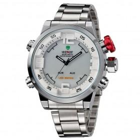 Weide Japan Quartz Miyota Men LED Sports Watch 30M - WH2309 - Silver - 3