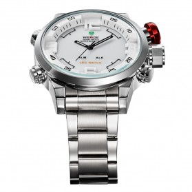 Weide Japan Quartz Miyota Men LED Sports Watch 30M - WH2309 - Silver - 4