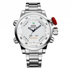 Weide Japan Quartz Miyota Men LED Sports Watch 30M - WH2309 - Silver - 5