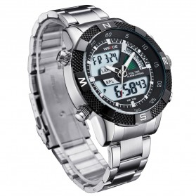 Weide Japan Quartz Stainless Strap Men LED Sports Watch 30M Water Resistance - WH1104 - Black - 3