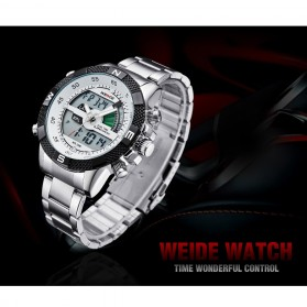 Weide Japan Quartz Stainless Strap Men LED Sports Watch 30M Water Resistance - WH1104 - Black - 7