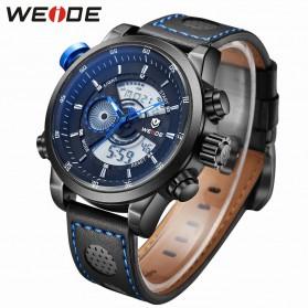 Weide Japan Quartz Leather Strap Men Sports Watch 30M Water Resistance - WH3401 - Blue/Black