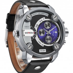 Weide Jam Tangan Japan Quartz Miyota - WH3301 - Black/Blue