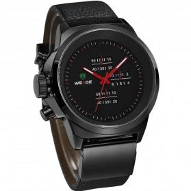 Weide Japan Quartz Miyota Men Leather Sports Watch 30M Water Resistance - WH3305 - Black/Red - 4