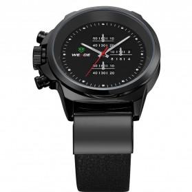 Weide Japan Quartz Miyota Men Leather Sports Watch 30M Water Resistance - WH3305 - Black - 3