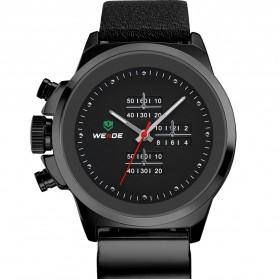 Weide Japan Quartz Miyota Men Leather Sports Watch 30M Water Resistance - WH3305 - Black - 5