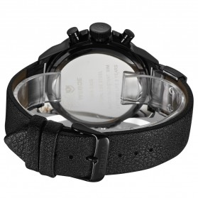Weide Japan Quartz Miyota Men Leather Sports Watch 30M Water Resistance - WH3305 - Black - 6