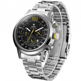 Weide Japan Quartz Stainless Strap Men Sports Watch 30M Water Resistance - WH3311 - Yellow