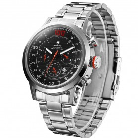 Weide Japan Quartz Stainless Strap Men Sports Watch 30M Water Resistance - WH3311 - Red