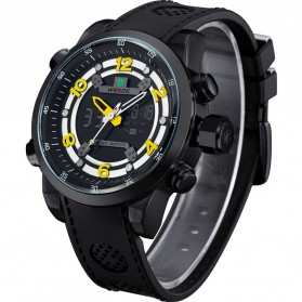 Weide Jam Tangan Analog Digital - WH3315 - Black/Yellow - 2