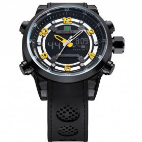 Weide Jam Tangan Analog Digital - WH3315 - Black/Yellow - 4