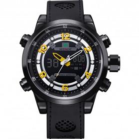 Weide Jam Tangan Analog Digital - WH3315 - Black/Yellow - 5