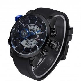 Weide Japan Quartz Silicone Strap Men Sports Watch 30M Water Resistance - WH3401 - Black/Blue - 1