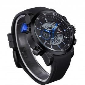 Weide Japan Quartz Silicone Strap Men Sports Watch 30M Water Resistance - WH3401 - Black/Blue - 2