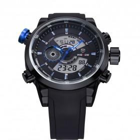 Weide Japan Quartz Silicone Strap Men Sports Watch 30M Water Resistance - WH3401 - Black/Blue - 3
