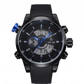 Weide Japan Quartz Silicone Strap Men Sports Watch 30M Water Resistance - WH3401 - Black/Blue - 5