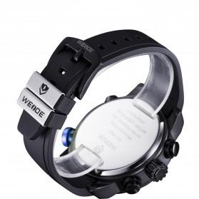 Weide Japan Quartz Silicone Strap Men Sports Watch 30M Water Resistance - WH3401 - Black/Blue - 6