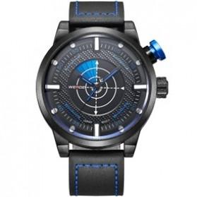 Weide Japan Quartz Miyota Men Leather Sports Watch 30M Water Resistance - WH5201 - Blue