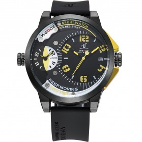 Weide Universe Series Dual Time Zone 30M Water Resistance - UV1501 - Yellow - 1