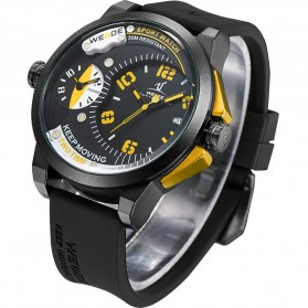 Weide Universe Series Dual Time Zone 30M Water Resistance - UV1501 - Yellow - 3