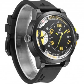 Weide Universe Series Dual Time Zone 30M Water Resistance - UV1501 - Yellow - 4