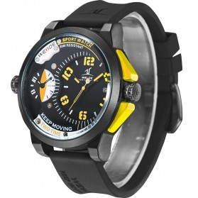 Weide Universe Series Dual Time Zone 30M Water Resistance - UV1501 - Yellow - 5